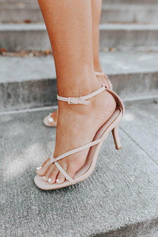 All Your Love Nude Strappy Heels - FINAL SALE