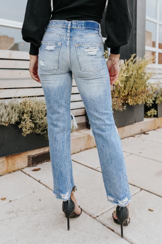 Free People Mid Century Baggy Boyfriend Jeans