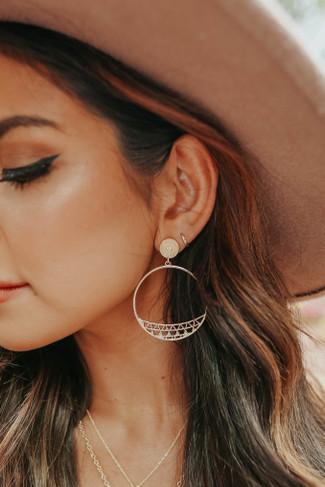 Mari Cutout Gold Hoop Earrings