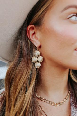 Gold Disc Dangle Earrings - FINAL SALE