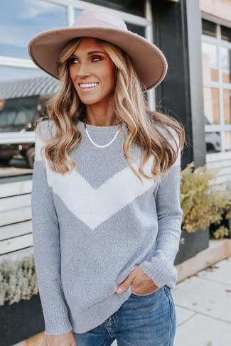New Standard Grey Chevron Sweater