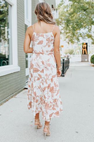 Tie Waist Sienna Floral Tiered Midi Dress - FINAL SALE