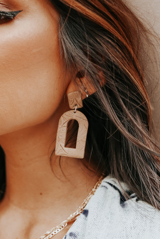 Textured Clay Statement Earrings