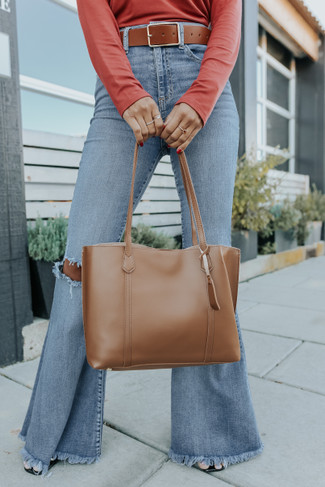 Style Forecast Faux Leather Brown Tote