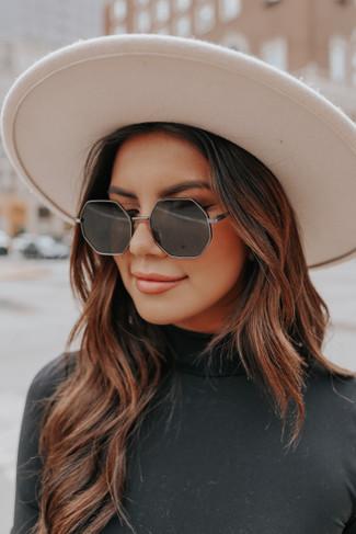 Desert Date Black Octagon Sunglasses