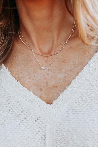 Kendra Scott Emilie Rose Quartz Gold Necklace