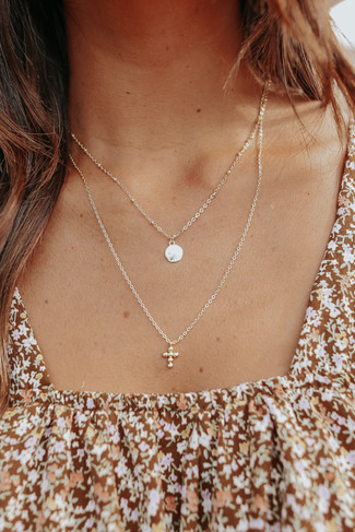 Please Rise Layered Gold Necklace