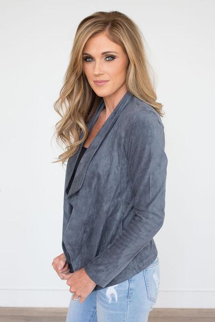 BB Dakota: Wade Suede Jacket - Grey