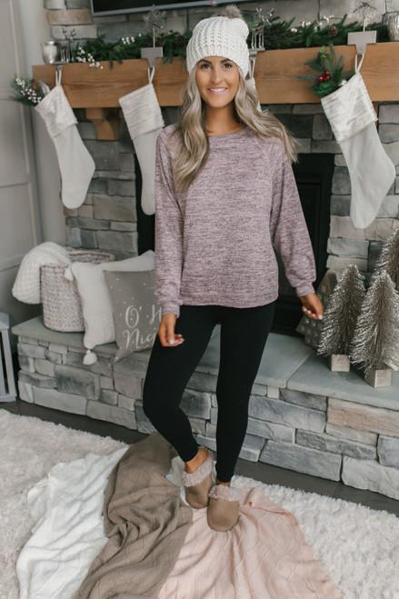 Soft Fleece Pullover - Heather Pink