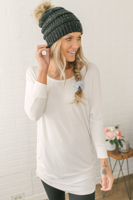 Signature Slouchy Dolman Top - Off White - FINAL SALE