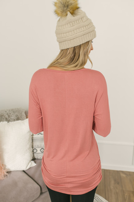 Signature Slouchy Dolman Top - Dusty Rose - FNAL SALE
