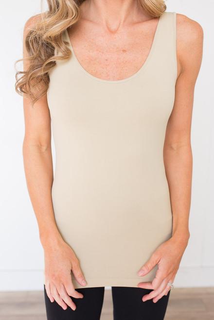 Seamless Reversible Tank Top - Nude