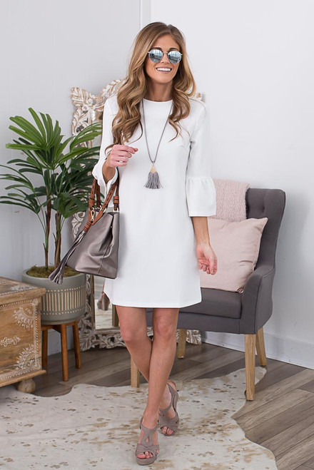 Heart of Dixie Shift Dress - Off White