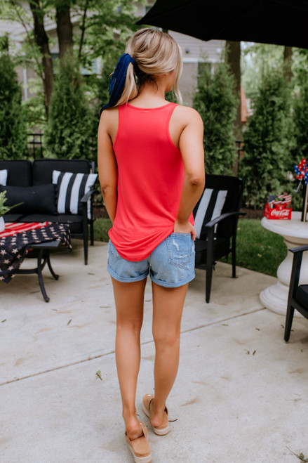 Star Spangled USA Tank - Red