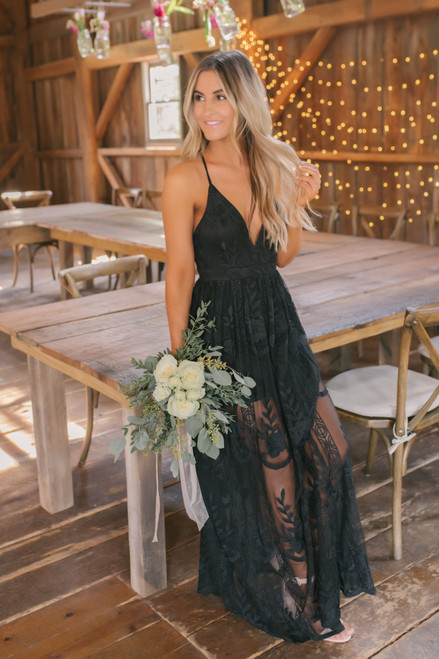 Secret Garden Lace Maxi - Black