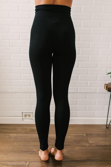 Seamless High Waist Leggings - Black