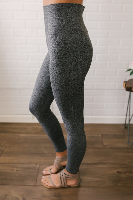 Seamless High Waist Leggings - Heather Grey