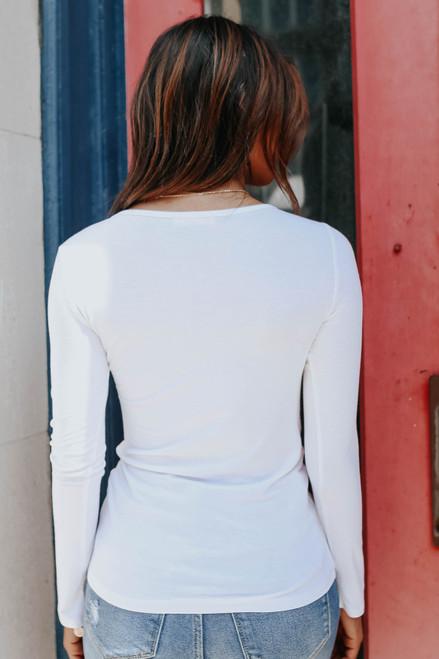 Riley Long Sleeve Tee - Off White