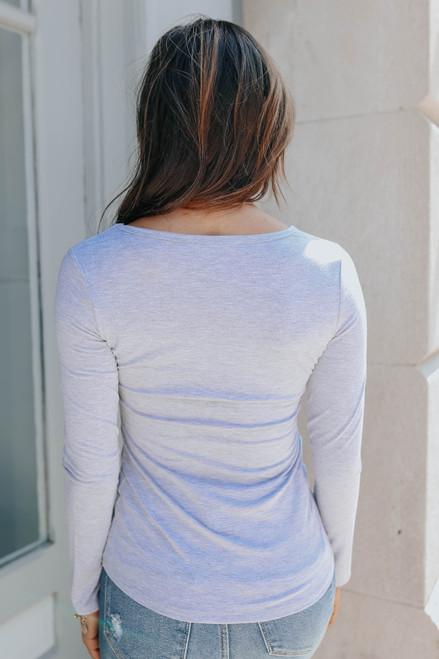 Riley Long Sleeve Tee - Heather Grey