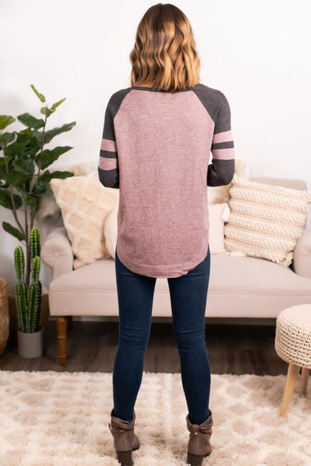 Sample Gates Varsity Sweater - Mocha/Charcoal