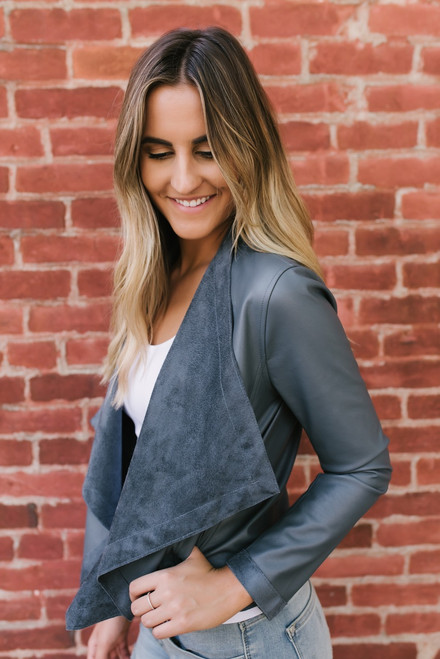 BB Dakota Teagan Reversible Jacket - Charcoal