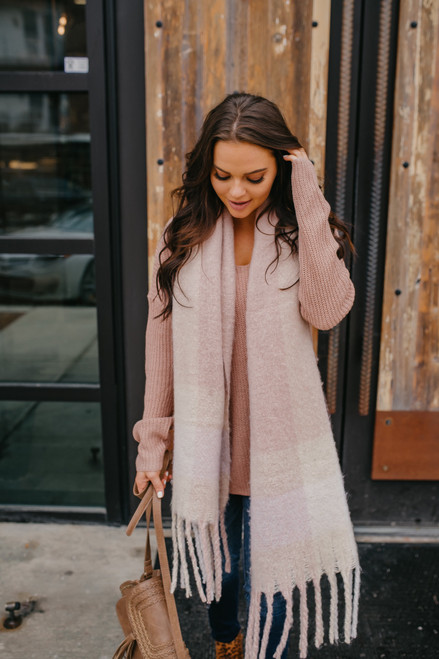 According To You V-Neck Sweater - Blush