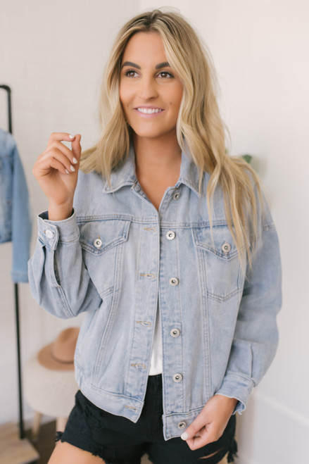 57e194742a Can t Fight This Feeling Denim Jacket - Light Wash