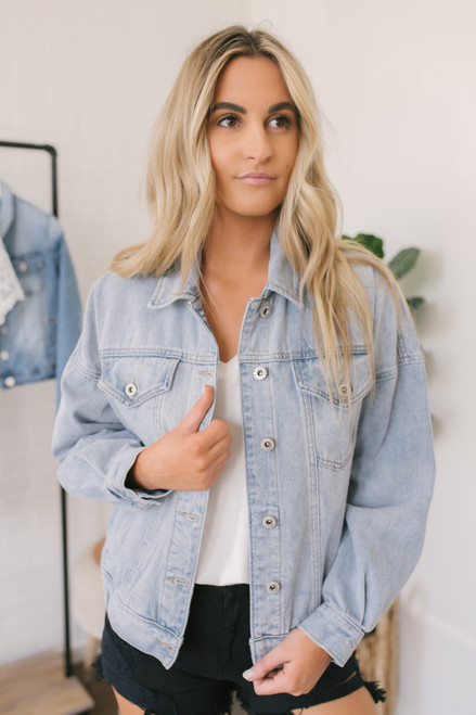 Can't Fight This Feeling Denim Jacket - Light Wash