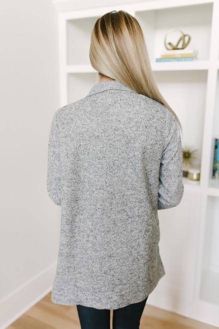 Kensington Square Blazer Jacket - Heather Grey - FINAL SALE