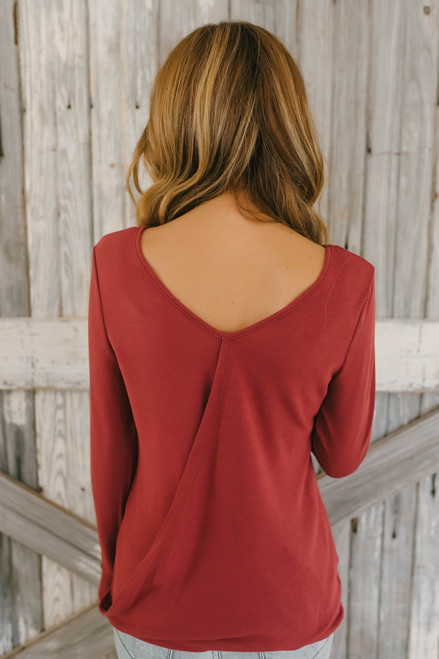 River Rapids Crossover Back Top - Brick - FINAL SALE
