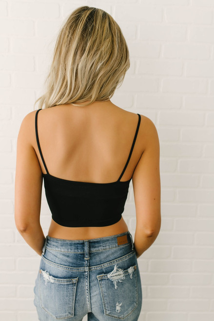 Seamless Solid Bralette - Black