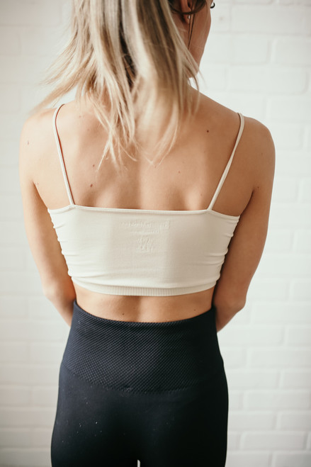 Seamless Solid Bralette - Nude