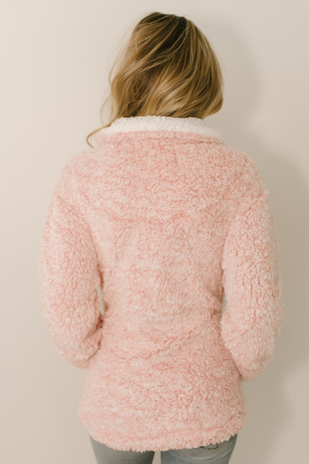 Snow Flurries Two Tone Wubby Pullover - Blush - FINAL SALE