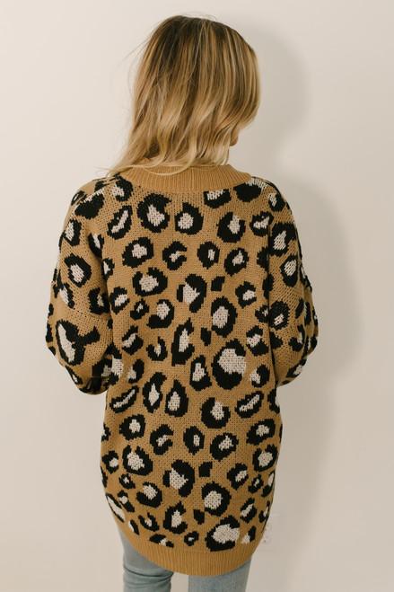 On the Prowl Leopard Cardigan - Mocha Multi  - FINAL SALE