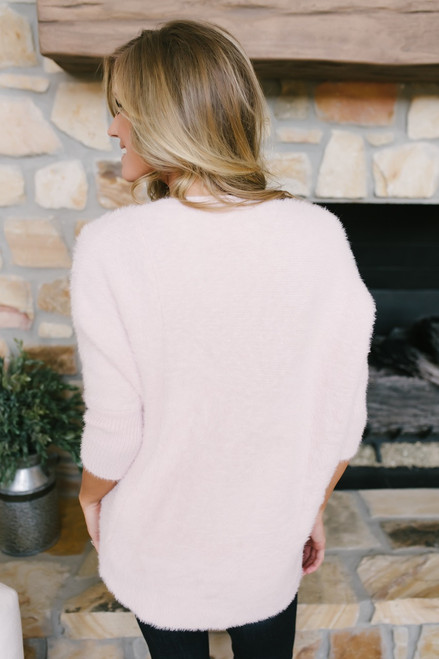 City of Love Fuzzy Dolman Sweater - Blush  - FINAL SALE