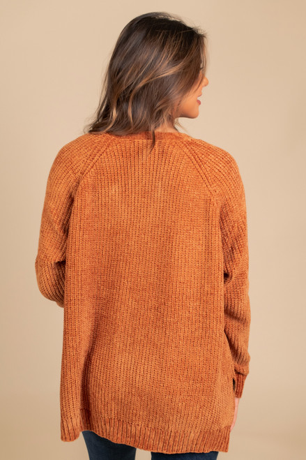 Central Park Chenille Cardigan - Camel