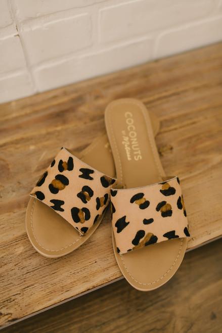 Coconuts by Matisse: Cabana Leopard Slides - Beige Multi