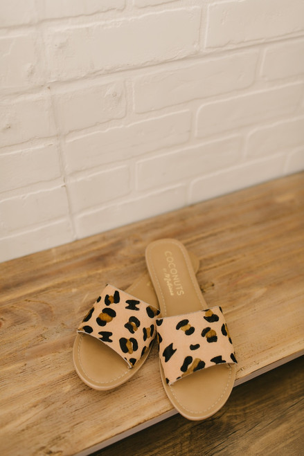 Coconuts by Matisse: Cabana Leopard Slides - Beige Multi (EXPECTED MID JUNE)