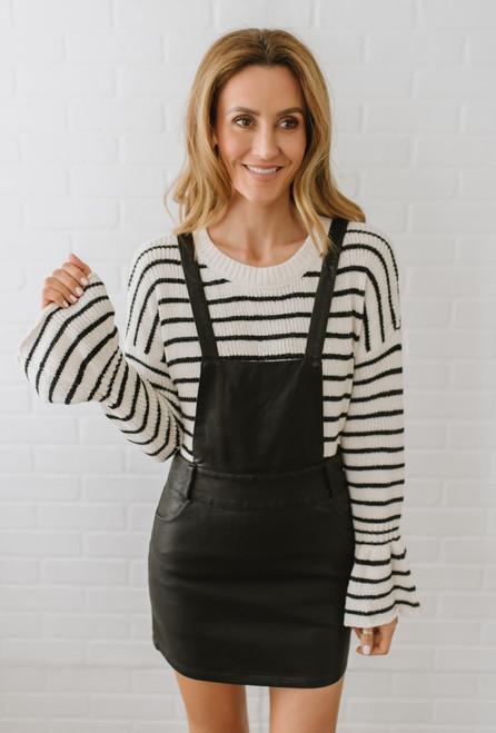 Jack by BB Dakota Twice Shy Overall Dress - Black - FINAL SALE