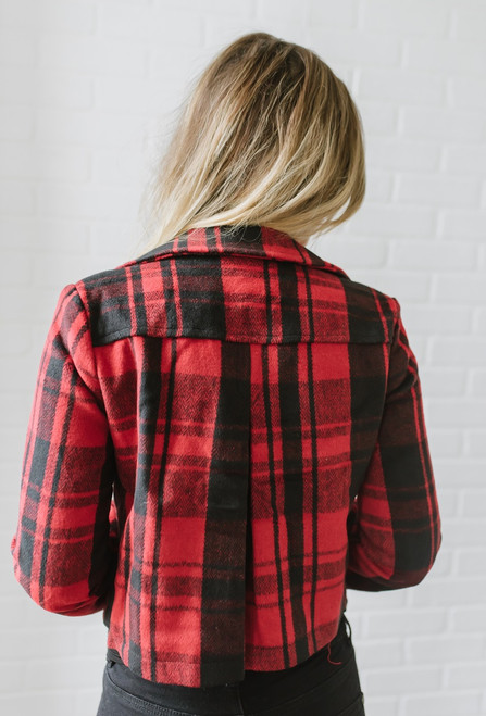 Jack by BB Dakota Out of the Woods Jacket - Red/Black - FINAL SALE