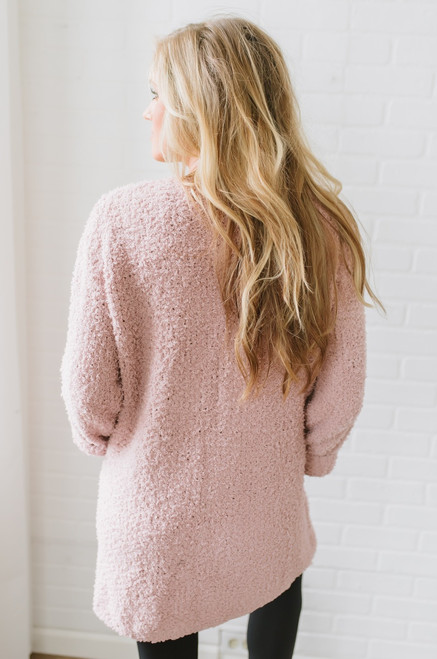 Coffee & Cuddles Soft Pocket Cardigan - Rose - FINAL SALE