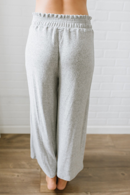 Soft Brushed Cropped Lounge Pants - Heather Grey - FINAL SALE