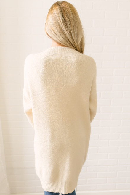 Snowy Mountain Button Down Cardigan - Beige  - FINAL SALE