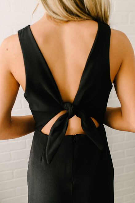 My Fair Lady Cropped Jumpsuit - Black