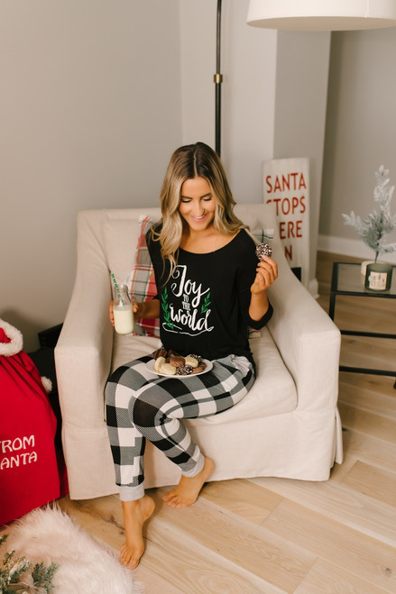 Joy to the World Top - Black - FINAL SALE