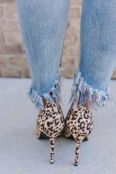 XOXO, Gossip Girl Leopard Heels - Camel Multi - FINAL SALE