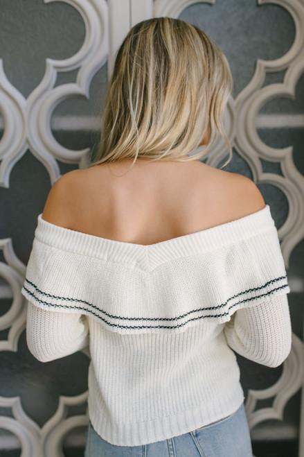 BB Dakota Rush Week Sweater - Ivory/Black - FINAL SALE