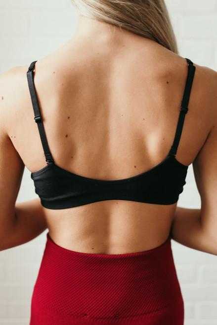 Solid Knit Bralette - Black - FINAL SALE