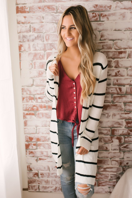 Audrina Button Down Knot Tank - Scarlet  - FINAL SALE