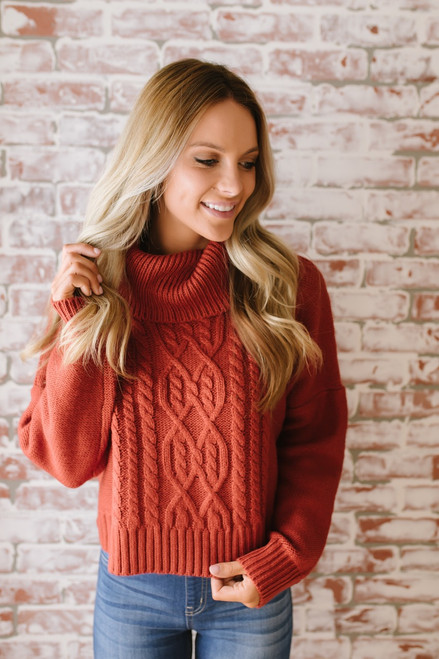 Jack by BB Dakota Say Anything Sweater - Burnt Orange - FINAL SALE